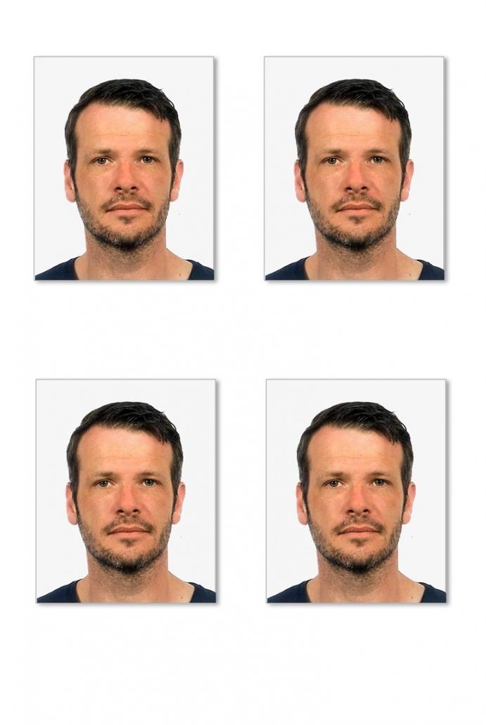 Ein biometrisches Passbild